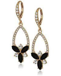 Anne Klein - Jet Stone Cluster Drop Earrings, Size: 0 - Lyst