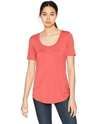 Three Dots - Refined Jersey Loose Long Shirt - Lyst