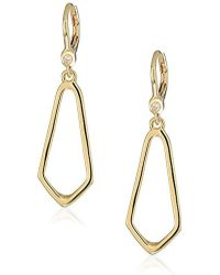 Ivanka Trump - Classics Gold-tone Open Drop Earrings, Size 0 - Lyst