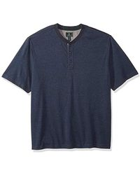 G.H.BASS - Big And Tall Madawaska Short Sleeve Henley - Lyst
