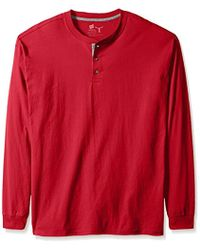 718aa970df22 American Eagle Long Sleeve Henley T-shirt in Red for Men - Lyst