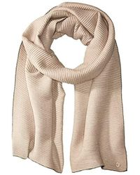Calvin Klein - Double Face Pleated Blanket Scarf - Lyst