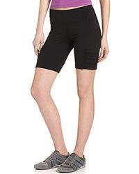 6a2067026c5 Calvin Klein - Performance Shirred Biker Short - Lyst