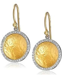 Gurhan - Hourglass Yellow Gold And White Diamond Dangle Earrings (3/8 Cttw, H-i Color, Si2-i1 Clarity) - Lyst