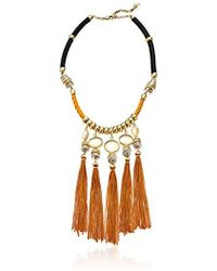 Lucky Brand - S Silk Cord Statement Necklace - Lyst