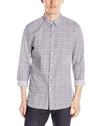 J.Lindeberg - Dani Dot Printed Button-down Shirt - Lyst