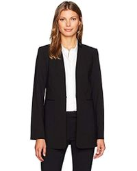 Calvin Klein - Lux Jacket With Pleather Collar Detail - Lyst
