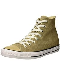 Lyst - Converse Chuck Taylor All Star Hi Vintage Leather in Gray for Men 00b5d755f