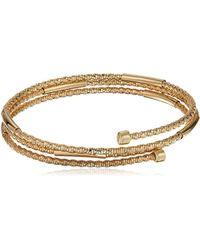 Napier - Gold-tone Coil Stretch Bracelet - Lyst