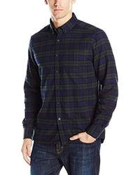 Kenneth Cole Reaction - Long Sleeve Multi Plaid Shirt - Lyst