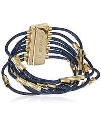 Kenneth Cole - Sculptural Twist Multi Row Bracelet, Navy, One Size - Lyst