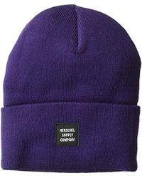9f35cb59a75 Lyst - Herschel Supply Co. Abbott Beanie Hat in Blue for Men