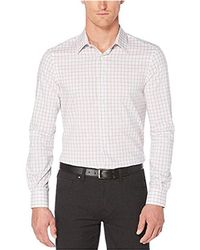 Perry Ellis - Faded Check Shirt - Lyst