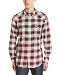 Lucky Brand - Santa Fe Western Shirt In Red Ombre - Lyst
