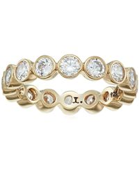 Judith Jack - Classics Gold-tone Sterling Silver And Bezel-set Crystal Ring, Size 5 - Lyst