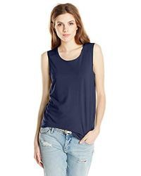 Three Dots - Sleeveless Muscle Tank Top - Lyst