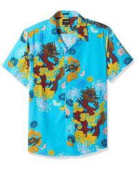 Guess - Short Sleeve Dragon Blossom Print Shirt - Lyst