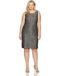 Kasper - Plus Size Metallic Jacquard Pleated Dress - Lyst