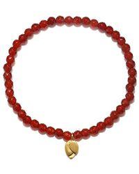 Satya Jewelry - S Carnelian Gold Lotus Stretch Bracelet, Orange, One Size - Lyst