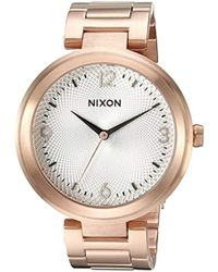Nixon - 'chameleon' Quartz Stainless Steel Watch, Color:rose Gold-toned (model: A9912369-00) - Lyst