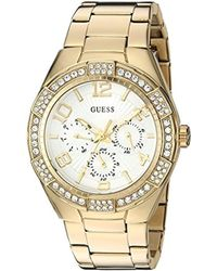 3f689ff6ace9 Guess - U0729l2 Sporty Gold-tone Stainless Steel Watch With Multi-function  Dial And