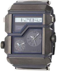 83fc435f1 DIESEL - Dz7178 Grey Sba Analog-digital Silver And Gunmetal Dial Watch -  Lyst