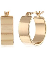 "Kenneth Cole - ""modern Lucite"" Small Hoop Earrings - Lyst"
