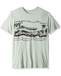 05a0b28f62 Saint Laurent Hawaii Print T-shirt in Blue for Men - Lyst