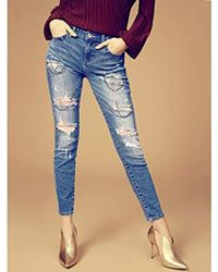 10f73b264a0 Lyst - Jolt Chain Stripe Distressed Skinny Jeans (plus Size) in Black
