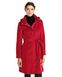 cb5de11eb9ef Ellen Tracy Outerwear Mid Length Hooded Down Coat With Cable Knit ...