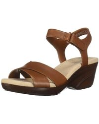 249146f8e275 Lyst - Naturalizer Carena Wedge Sandals in Natural