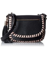 MILLY - Astor Contrast Whipstitch Small Saddle - Lyst