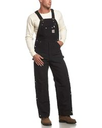 9cbf3d0aef6c Carhartt - Big   Tall Quilt Lined Zip To Thigh Bib Overalls R41 - Lyst