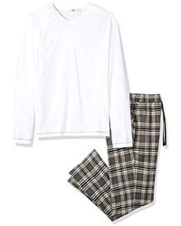 2a4a68d275 Lyst - Ugg Grant Plaid Pj Set in Gray for Men