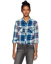 Volcom - Tru Flame Long Sleeve Vintage Flannel Top, - Lyst