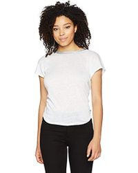 Armani Exchange - | Open Bck Knot Tee - Lyst