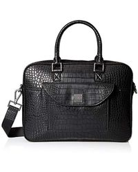 Armani Exchange - Rmni Exchnge Croco Embossed Briefcse With Lptop Comprtment - Lyst