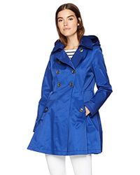 Via Spiga - Double Breasted Hooded Fit And Flare Lightweight Trench Coat - Lyst