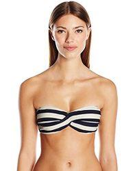 Ted Baker - Ciranoo Navy White Stripe Bandeau Bikini Top - Lyst
