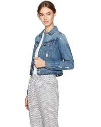 cdb5a45aa6b Jessica Simpson - Pixie Classic Feminine Crop Fit Denim Jacket - Lyst