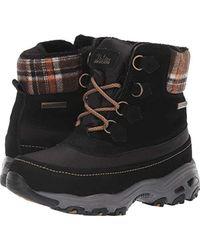 832487e08aec Skechers - D lites-mid Hiker Lace Up Boot W Plaid Collar Snow -