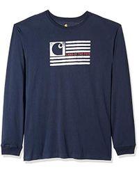 da303921d Carhartt - Big & Tall Lubbock Logo Flag Graphic Long Sleeve T Shirt - Lyst