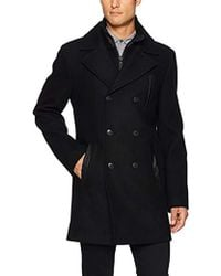 SOIA & KYO - Tom Mid Length Wool Jacket With Removable Bib - Lyst