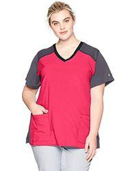 2e10632db64 Dickies Scrubs Flex Utility Fashion Scrub Top (xs -2x). Flexible.  Functional. Fashionable! in Pink - Lyst