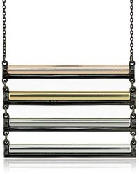 """French Connection - Candy Stick Ladder Pendant Necklace, 18"""" - Lyst"""