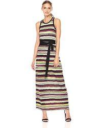 Jones New York - Vista Stripe Prt Maxi Dress W/tie Waist - Lyst