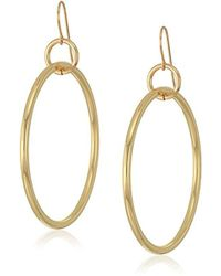 Elizabeth and James - Lueur Hoop Earring, Gold - Lyst