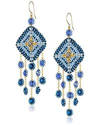 Miguel Ases - Gold-filled Multicolored Beaded Drop Earrings - Lyst