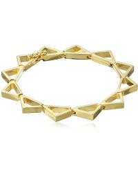 Noir Jewelry - Slim Pyramid Bracelet - Lyst