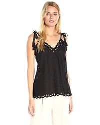 Theory - Wiola Light Linen Embroidered Top - Lyst